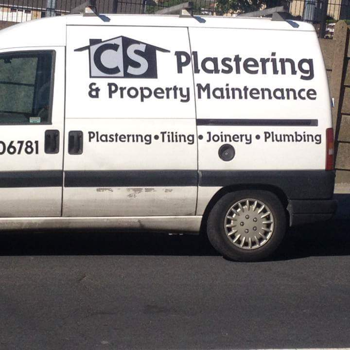 CS Plastering Original Van Decals