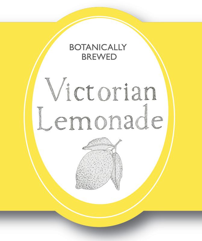 Close Up of Fentimans Victorian Lemonade Bottle Label